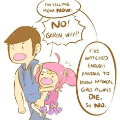 AHAHAHA Garen and Lux from League of Legends - this is soo cute!