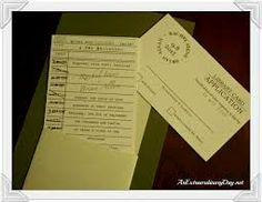 wedding invitations book theme - Google Search