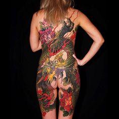 Search inspiration for a Japanese tattoo. Japanese Tattoo Women, Japanese Tattoo Art, Japanese Sleeve Tattoos, Weird Tattoos, Hot Tattoos, Body Art Tattoos, Tribal Fashion, Boho Fashion, Back Piece Tattoo