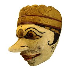 antique masks | Antique Wooden Folk Mask Indonesian Bite Mask Topeng 19th Century ...