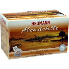 HEUMANN Tee Abendstille Filterbeutel:   Packungsinhalt: 20 St Filterbeutel PZN: 00637973 Hersteller: Zentiva Pharma GmbH Preis: 2,47 EUR…