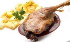 Receta de Confit de pato con patatas y salsa de higos