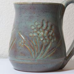 PC 25 Textured Turquoise PC 57 smoky merlot over. Glazes For Pottery, Pottery Mugs, Ceramic Pottery, Pottery Art, Clay Mugs, Ceramic Mugs, Ceramic Art, Stoneware, Amaco Glazes