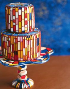 For a Piet party? Not blaming the DeStijl movement for this, but it is a cake for a fun occasion.  (no credit at source)