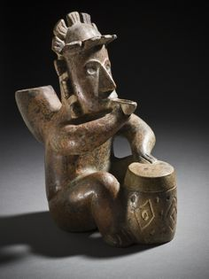 """Seated Drummer Mexico, Colima, 200 B.C. - A.D. 500"