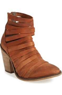 Main Image - Free People 'Hybrid' Strappy Leather Bootie (Women)