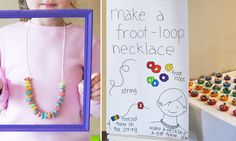 Like the colorful frame to highlight necklace.  Would be great for t-shirt or apron too.