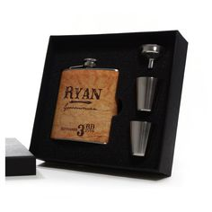 Country Wedding 6 Groomsmen Gift Flask Sets Personalized Flasks