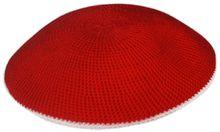 Red Crochet Kippah