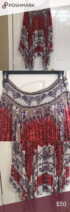 Free People Fly Away handkerchief skirt Gorgeous lined skirt. Free People Skirts Asymmetrical