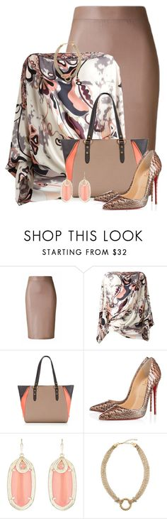 """Untitled #1683"" by jay-to-the-kay ❤ liked on Polyvore featuring Emilio Pucci, Christian Louboutin, Kendra Scott and Panacea"