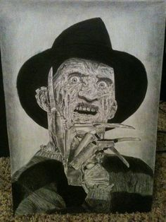 A scary realistic drawing of the terrifying Freddy Krueger by Hannah Goude! Hope the details dont keep you up at night (;