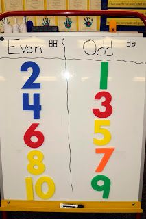 Mrs. Ricca's Kindergarten: Math odd and even. Would probably do this with visuals, maybe on index cards?