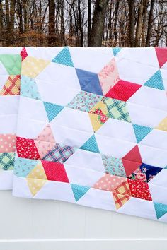 Vintage Stars quilt pattern by Beverly McCullough of Flamingo Toes Barn Quilt Designs, Quilting Designs, Quilting Projects, Sewing Projects, Quilt Of Valor, Star Quilt Patterns, Cool Coloring Pages, Quilting For Beginners, Quilt Tutorials