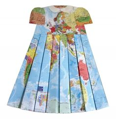 elisabeth lecourt, map print dress, cartography dress, pleated babydoll, fashion, art, couture, the clothes horse