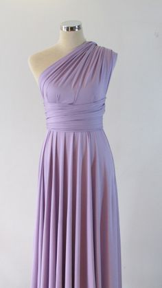 Really like this one girls and it can be converted 6 ways!!!Full length Convertible Dress in lavender light by HerBridalParty, $52.00