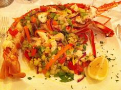 Catalan lobster -  Aragosta alla catalana! Ristorante Le Nasse, Reggio Calabria, ITALY. www.ubais.it