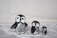 Vintage Owl Figurines Vintage Owl Decor  by HappyFortuneVintage
