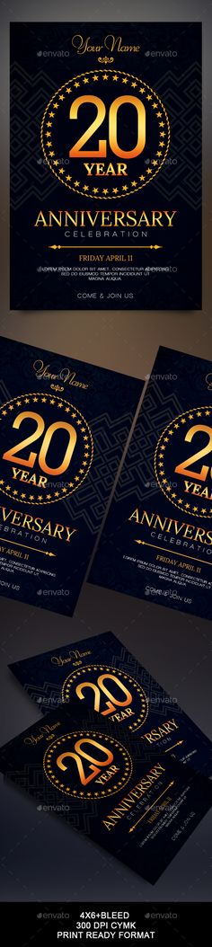 Anniversary Flyer  Flyer Template Anniversaries And Party Flyer