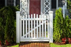 How to Build a Garden Gate. Get two stout posts and some stock cedar, and you've got the makings of a quaint entrance to any path