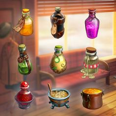 Icons at Klondike game, Vadim Bahryi Game Design, Icon Design, Creating Games, Casual Art, Concept Art Tutorial, Food Icons, Fantasy Setting, Game Icon, Game Concept