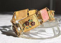 Art deco jewelry / antique bracelet / French by ParisRomaNYflea, $85.00
