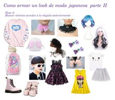 """""""Moda japonesa II"""" by amberzxxx on Polyvore featuring moda, Urban Outfitters, Japan L.A., Dr. Martens y Demonia"""