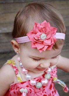 U Pick Wholesales Rhinestone Flower Headband Baby Headbands. Baby Hair Bands, Baby Flower Headbands, Headband Baby, Kanzashi, Flower Hair Accessories, Elastic Hair Bands, Girls Bows, Baby Girls, Crystal Flower