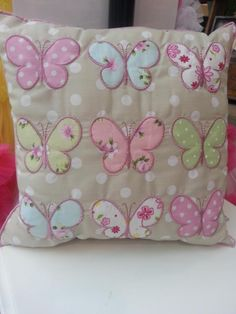 cushion heart......(what a beautiful, butterfly pillow! i love everything about it!)....