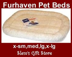 Pet Bed dog cat crate kennel pillow insert cream fleece foam filled Furhaven NIB $14.95-39.95 http://stores.ebay.com/Slems-Gift-Store  or order directly from me at dslem3@yahoo.com for 10% off your order!