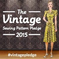 A Stitching Odyssey: Join the 2015 Vintage Sewing Pattern Pledge!