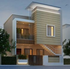 A Guide to Dream House Architecture Pictures of Dream Houses - homevignette Modern Small House Design, Modern Exterior House Designs, Bungalow House Design, House Front Design, Modern Architecture House, Modern House Plans, Home Building Design, Facade Design, Villa Design