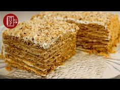 Cake in 30 minutes! Honey cake without rolling out cakes - Backen - Russian Pastries, Sour Cream Sauce, Good Food, Yummy Food, Honey Cake, Appetizer Plates, Seafood Dishes, Tasty Dishes, Baked Goods