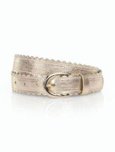 Talbots: Metallic Scallop Belt