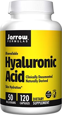 Jarrow Formulas Hyaluronic Acid, Promotes Skin Hydration and Healthy Joints, 60 Capsules Hyaluronic Acid (HA) Capsules 100 mg Per Serving Pure Hyaluronic Acid-Not Collagen Skin Hydration and Joint Support Thing 1, Amino Acids, Healthy Tips, Collagen, Health And Beauty, Pure Products, Health Products, Vitamins