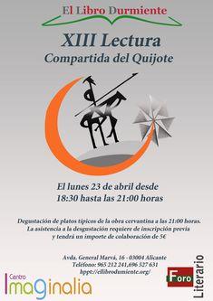 Lunes 23 tendremos XIII Lectura compartida del Quijote