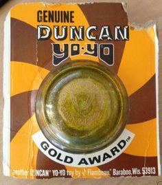 Toys From the 1970s | RARE Vintage Genuine Toy Duncan Gold Award Yo Yo YoYo 1970S
