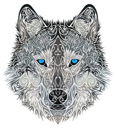 Tribal Wolf by Dessins-Fantastiques on DeviantArt