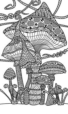 Coloring Book Pages Free Kids Printable Plus Fascinating Print Mushroom And Toadstools Page Best