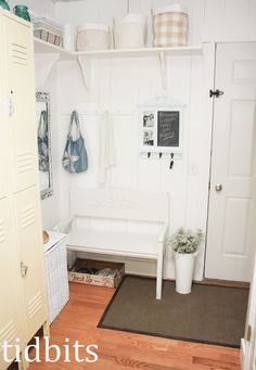 Transform an Entryway With Hooks and Shelves