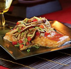 ASIAN-STYLE GLAZED SALMON WITH ROASTED MUSHROOM SALAD   http://www.finecooking.com/recipes/asian-glazed-salmon-roasted-mushroom-salad.aspx  ⇨ Follow City Girl at link https://www.pinterest.com/citygirlpideas/ for great pins and recipes!  ☕