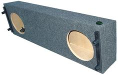 """Audio Enhancers FRX200C12 Ford Ranger Subwoofer Box, Carpeted Finish. Down Firing; Air Space 2.00cu.ft.; Mounting Depth 6 1/8"""". Carpeted 2-12"""". Width x 43"""" x Height x 8"""" x Top Depth x 12"""" x Bottom Depth x 13 1/2"""". See Detail Installation Comments Under Product Description. 100% American Made & 100% Green."""