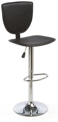 Adjustable Bar Stool With Foot Rest, Backrest, 360° Swivel, Set Of 2