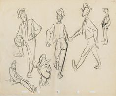 Milt sketches during WWII - The Art of Milt Kahl* ★ || Art of Walt Disney Animation Studios © - Website | (www.disneyanimation.com) • Please support the artists and studios featured here by buying their works from their official online store (www.disneystore.com) • Find more artists at www.facebook.com/CharacterDesignReferences and www.pinterest.com/characterdesigh || ★