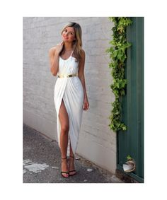 Bqueen White Empire Maxi Dress