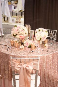 42 Glamorous Rose Gold Wedding Decor Ideas ❤ rose gold wedding decor chic table decor Adam Frazier A gorgeous explosion of glitzy and glamorous rose gold! Take a look at the rose gold wedding decor ideas in our gallery below and get inspired! Quince Decorations, Gold Wedding Decorations, Gold Wedding Theme, Rose Wedding, Wedding Themes, Dream Wedding, Wedding Bride, Diy Wedding, Wedding Ideas