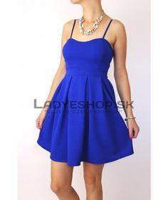 Krátke dámske šaty modré