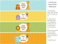 BABY JUNGLE ANIMALS 1st Birthday or Baby by traditionsbydonna