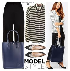 """""""Model Style"""" by leathersatchel ❤ liked on Polyvore featuring Temperley London, Banana Republic and Manolo Blahnik"""