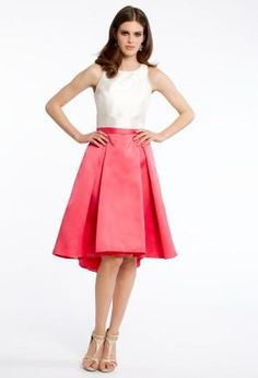 Satin Box Pleat Tank Dress   Camillelavie.com #pink #dresses #camillelavie #fashion